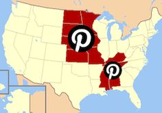 Pinterest Strongholds: Hurrah for the Heartland! (Maybe, if you look hard, you can see Hecla, SD at noon and a little left at on the big 'P'.) #Pinterest