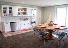 basement kitchen | Four Chairs Furniture + Cadence Homes