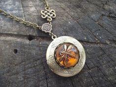 outland seri, celtic knots, amber czech, necklac, czech glass