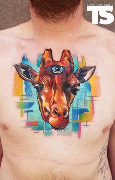 Ivana Belakova  weird tattoo but so well done
