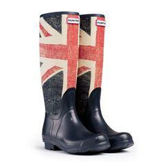 Hunter se une a la moda de las banderas con botas de agua con la bandera inglesa estampada.