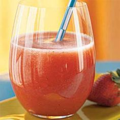 Strawberry Agua Fresca... Sounds like it would make a great frozen refresher in the summer.