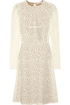 carven.  cotton-blend lace dress.
