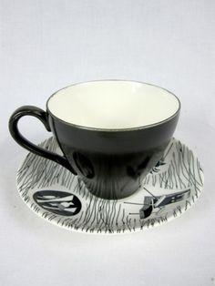 Cup & Saucer / Vintage Enid Seeley for Homemaker