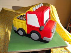 Dumper Truck Cake by bassettsfarm, via Flickr