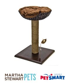 The #MarthaStewartPets Scratching Post with Bed is the ultimate cat product - it will help keep your cat occupied while saving your furniture! Only at #PetSmart.