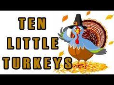 Thanksgiving Songs for Children - Ten Little Turkeys - Kids Song by The ...