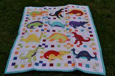 Dinosaur applique quilt