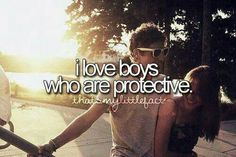 Boys who are protective