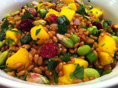 Mango Wheat berry Salad