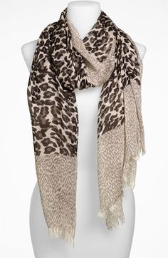 Leapord print scarf