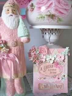 Pink Santa! pink santaand, veryveri pink, pink christma, santapink santa