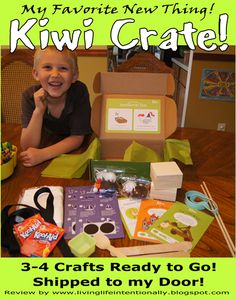 Preschoolers LOVE Kiwi Crate! Come take a peak inside a Kiwi Crate and see what all is included in this monthly box of crafts! (Moms love Kiwi Crate convenience and affordability!!) #preschool #craftsforkids