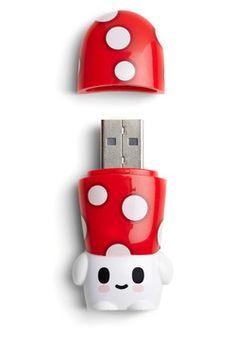Adorable Mushroom Flash Drive!