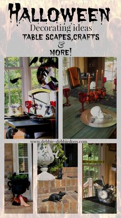 Gallery of Halloween ideas from my own archives. I love Halloween crafts, table scapes and more. I have 4 years worth!