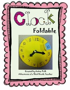 Here's a template for creating a clock foldable that helps students equate the numbers on the clock with minutes in an hour.