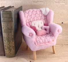 Needle Felted Pink Arm Chair  Arm Chair Adventures by McBrideHouse, $94.00