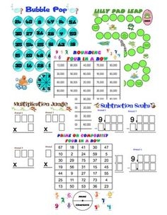 Have a fun Friday with these fourth grade Common Core math games!!