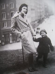 Astrid Lindgren with his son. Great writer and inspiration.