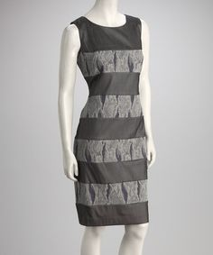 Take a look at this Gray Stripe Snakeskin Dress by Samuel Dong on #zulily today!