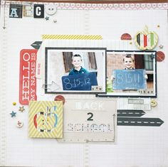 back 2 school layout by Lexi Bridges - Two Peas in a Bucket #scrapbooking #back to school