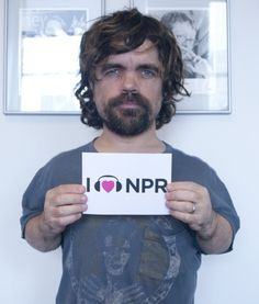 With this display of affection from Peter Dinklage, Tyrion Lannister gets our support to take over the Iron Throne - NPR could use a foreign bureau at King's Landing. (May 2012)
