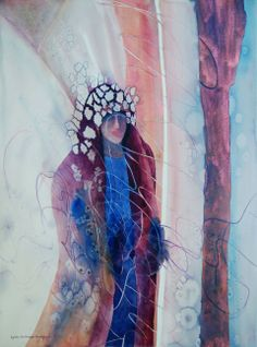 """ Mystical Madonna"" - watercolor by Lynda Hoffman-Snodgrass"