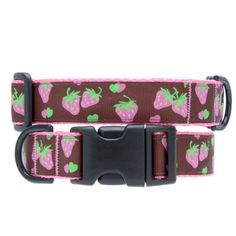 """Treat your furry valentine to a special """"chocolate strawberry"""" collar! <3 