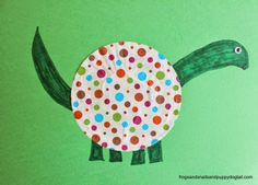 Cupcake Liner Dinosaur Craft by FSPDT