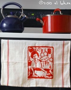 julia child tea towel