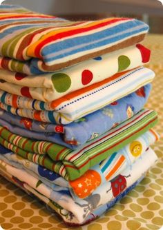 cloth diapers burp rags