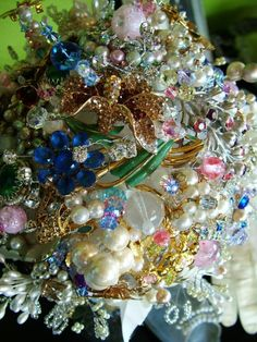 Handmade Vintage Brooch Jewelry Bridal BOUQUET