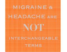 migraine ≠ headache