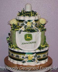 john deere baby shower cakes and ideas   John-Deere-Diaper-Cake.JPG - John Deere Diaper Cake