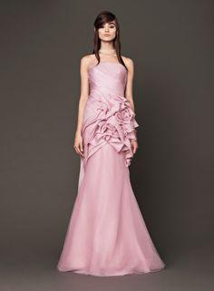 Elegant Pink Wedding Dress