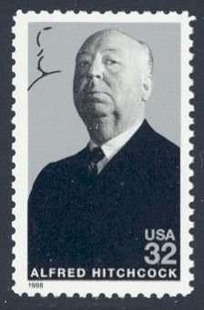 Alfred Hitchcock - Single Stamp 4th in Legends of Hollywood Series United States, 1998