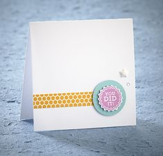 Another adorable, simple card made with the #30yearsofhappy stamp set!