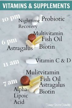 10 Vitamins & Supplements to Take Daily: Interesting, will research for myself why this combination and time.///