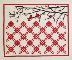 It's For The Birds by Kathleen Whiting, featured at McCall's Quilting.  2010 Design Star winner