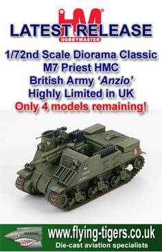 HG4705  Stunning 1/72nd Scale M7 Priest Howitzer Motor Carriage 'British Army Artillery Piece' - British Army classic, with very few models still available!