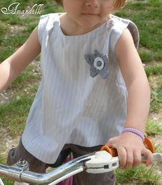 Amandille: Tuto couture enfant : le petit haut sans manches pour fillette taille 3 ans (patron gratuit - pattern free)
