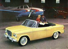 Studebaker Lark convertible in yellow
