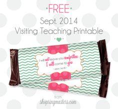 September 2014 Visiting Teaching message. FREE PRINTABLE! So easy