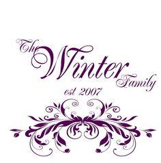 Family Name or Monogram, Vinyl Decal- UK Seller