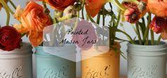 Painted Mason Jars Tutorial