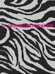 ZEBRA STRIPES CROCHET PATTERN AFGHAN GRAPH #099