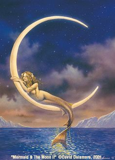 Mermaid & The Moon II...want this on my shoulder