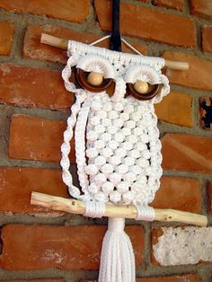 Una shooshie on etsy.... Check it out! The macramé owls are the best I've seen.