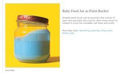 Baby food jar as paint jar