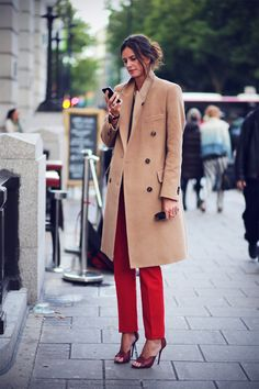 red pant